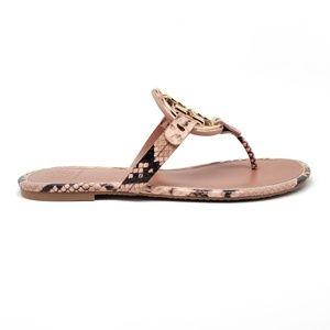 Tory Burch Shoes - Tory Burch Miller Snake Print Sandals Womens 8
